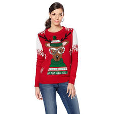 curations reindeer sweater 8488265 hsn