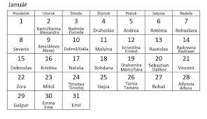 Kalendář 2018 Svátky číselník Se Slovenskými Svátky Pro Kalendář 2018 Grafika Obrázky