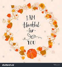beautiful thanksgiving card floral frame handdrawn stock vector