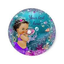 mermaid baby shower adorable mermaid baby shower stickers zazzle