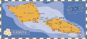 map samoa map of samoa blue pacific car hire