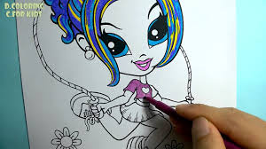 coloring pages lisa frank glamour painting color for kids