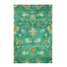 Area Rugs Home Decorators Home Decorators Collection Montpellier Teal 8 Ft X 11 Ft Area