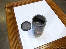cut a beadboard table top and paint it pewter gray petticoat junktion