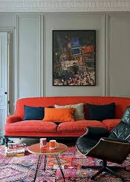Colour Combination For Wall Love The Color Combination Of The Blue Grey Wall And The Orange