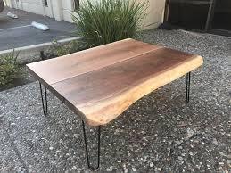 Slab Coffee Table Live Edge Black Walnut Slab Coffee Table Sku 0041