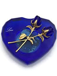 blue crystal music box plays