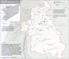 Map Of North Africa And The Middle East by Map Showing The Idlib Governate In Syria Map Shows Jabal Zawiyah