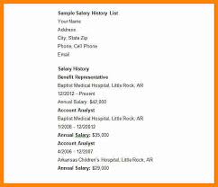 resume with salary history sample resume with salary expectations