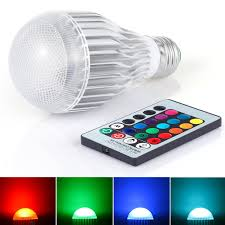 Remote Control Led Light Bulb by Le Dimmable A19 E26 Led Light Bulb 6w Rgb 16 Colors Remote
