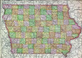 Iowa State Campus Map Large Old Administrative Map Of Iowa State With Cities 1895