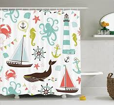 Kids Bathroom Shower Curtain Kids Bathroom Shower Curtain Amazon Com