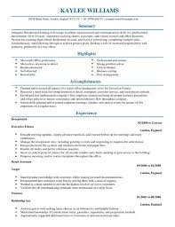 resume samples receptionist unforgettable receptionist resume