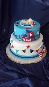 nautical theme baby shower cake baby shower cakes pinterest