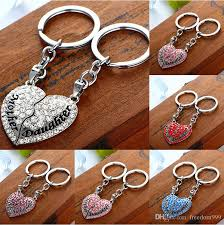 fashion key rings images Fashion keychains mother 39 s day mom daughter full drill peach mood jpg