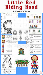 red riding hood printables activities pack fun mama