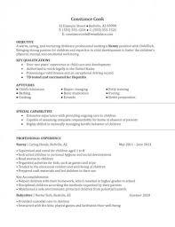 Nanny Job Description For Resume nanny resume skills restaurant manager cv sample cover letter