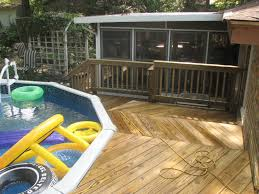above ground pool with deck ideas heres a large above above