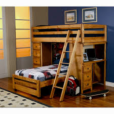 bunk beds with desk underneath unfinished basement ideas on a