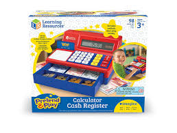 learning resources pretend and play calculator cash register with