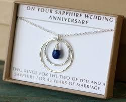 45 year anniversary gift 45th anniversary gift 45th wedding anniversary gift sapphire