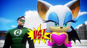 green lantern vs rouge the bat epic battle youtube