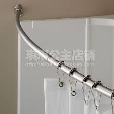 Decorating Decorative Double Curtain Rod by Bathroom Double Curved Shower Curtain Rod In Silver With Charming