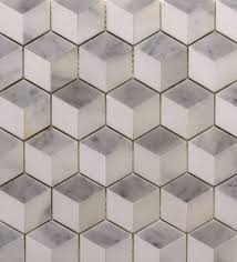 dimensional tile beltile three dimensional square mosaic in carrara calacatta and