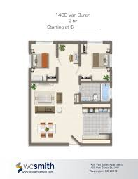 2 bedroom floor plan 1400 van buren apartments in northwest