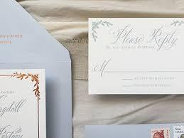 Photo Wedding Invitations Dusty Blue Letterpress And Copper Foil Wedding Invitations