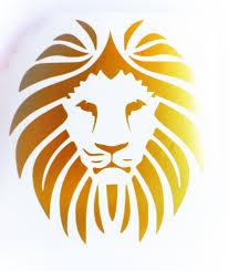 lion decal lion vinyl decal lion laptop decal lion wall decal lion