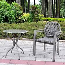 All Weather Patio Chairs To Real 3 Pcs All Weather Outdoor Bistro Set
