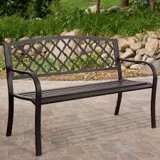 Metal Garden Chair 4 Ft Metal Garden Bench With Bronze Highlights Over Antique Black