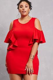forever 21 forever 21 plus size open shoulder dress red
