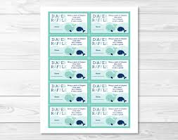 whale diaper raffle tickets whale baby shower baby shower