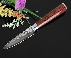 japanese handmade kitchen knives wholesale sharp 3 5 damascus kitchen knife handmade hammer forged