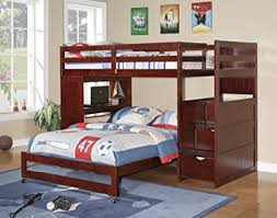 amazon com twin over full modular stairway loft bed with desk