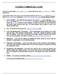 Free Residential Lease Agreement Templates Free Florida Commercial Lease Agreement Pdf Word Doc