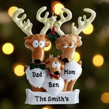 personalized reindeer family ornament walmart