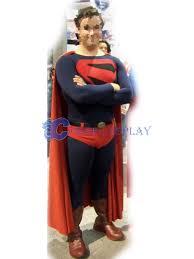 Superman Halloween Costumes Adults Blue Superman Costume Halloween Superhero Capes Cosercosplay