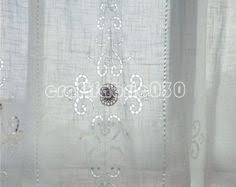 Heirloom Lace Curtains Antique Cotton Tulle Lace Curtain Drapery Tape Lace Applique