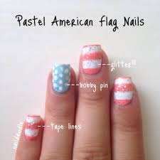 pastel 4th of july independence day nails naildawdle