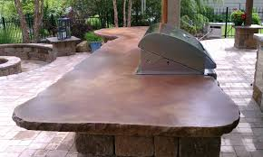 Stain Old Concrete Patio by Cement Countertops Vivid Acid Stain Kitchen Pinterest