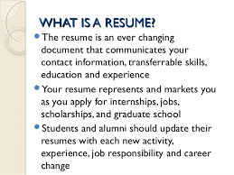 what is resume jan 15 2015 developing a professional resume