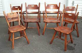 Maple Dining Chair Set Of 6 Cushman Colonial Creations Maple Dining Chairs Antique