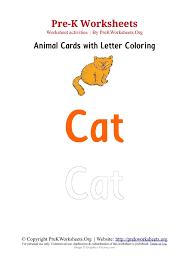 pre k animal flashcard templates pre k worksheets org