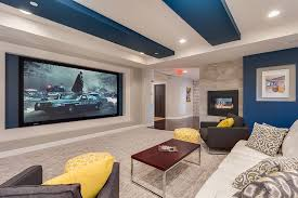 Sofa Movie Theater by Home Theater Ideas Basement Brown Color Leather Reclining Chairs