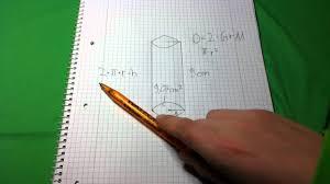 fläche zylinder berechnen oberfläche eines zylinders ausrechnen mathe übung