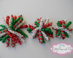 christmas hair bows christmas hair bow etsy