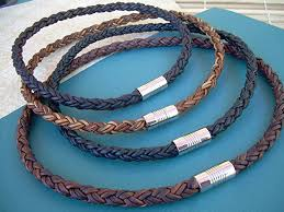 men necklace leather images Thick braided leather necklace for men stainless jpg